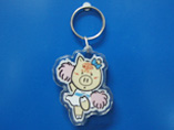 Cute Pig Shape Clear Acrylic Keyring