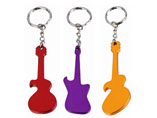 Guitar Shape Bottle Opener Keyring