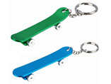 Skateboard Shape Bottle Opener Keyring