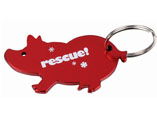 Cute Pig Shape Bottle Opener Keyring