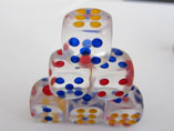 Transparent Dice with Your Design