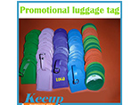 Logo Printed Leather Baggage Tag
