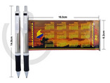 Custom imprinted logo plastic banner pens with full colour banner