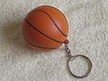 Logo items/products 4cm PU stress basketball keyring