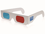 Customized Red and Blue Paper Frame 3D Glasses