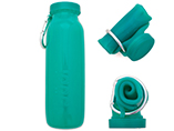 Round Silicone Collapsible Water Bottle