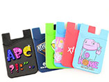 Personalized popular silicone phone card holder wit