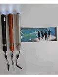 Branded promotional banner ball pen with LED light