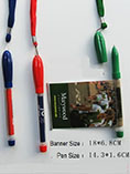giveways plastic banner pen with rope for promotion