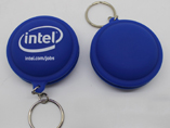 Silicon earphone bobbin winder keychain