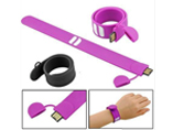 New Custom Logo Promotional Silicone Wrist band USB