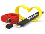 Custom logo wristband USB flash memory disk