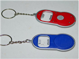 Personalized bottle opener keyring with flashlight