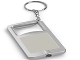 Custom Rectangle Bottle Opener LED Keychains