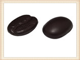 PU coffee bean stress toys for promotional gifts
