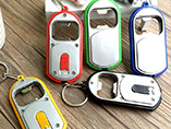 Customized Bottle Opener Keychain with LED Light