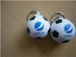 sell well football shaped keychain pu foam for whol