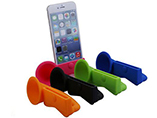 Soft Rubber Horn Stand Holder Loudspeaker For iPhon