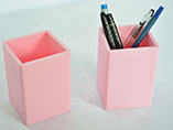 Custom business gift pink silicone pen holder