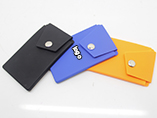 Adhesive silicone smart card wallet with phone hold