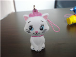 PU cute cat stress keychain for wholesale