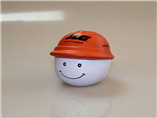 cheap PU ball with orange hat for advertising