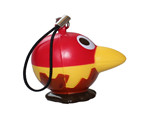 hotsale red crazy bird stress ball keychain