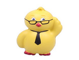 personalized yellow dark with glasses stress ball