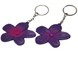 beautiful PU antistress flower keyrings