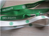 promotional logo printing lanyard with metal clip