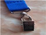 blue sublimation metal clip lanyard as giveaway