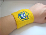 Protect wrist yellow sport sweatband for promotiona