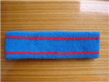 100% cotton blue sport headband as giveaways