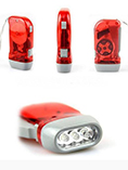 rechargeable hand crank flashlight