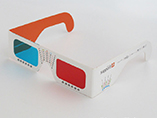 Red Blue Paper 3D glasses with OEM printing