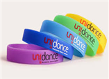 Custom colorful deboss printing Wristbands