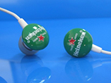 Customized in-ear earphone with silk screen printin