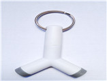 white ABS 3.5mm mobile earphone music splitter for