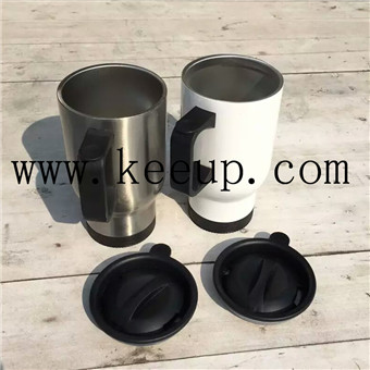 advertising white stainless car cup
