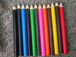 3.5'' colored pencil set with customized logo