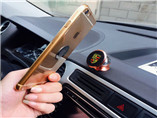 Creative Variety phone holder with logo used in Car