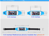 Customize Waterproof Sport Running Belt Waist Bag For iphone 6