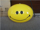 Custom giant plastic inflatable pvc ball smiley fac