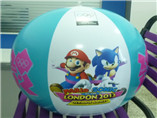 Colorful inflatable belly bump Beach Ball for Outdo