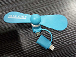 Portable mini fan for iPhone and Android smart phon