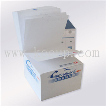 customized various colors paper memo cube for adver