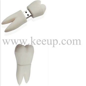 Specail Hot Promotional tooth shape twist metal usb