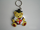 Rubber bear shape colorful keychain/pvc keychain
