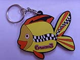 Custom shape soft rubber 2D keyring