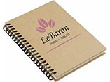 Printed hard paper cover promotional notebook with spiral bound